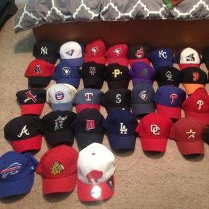 MLB NHL NFL hats
